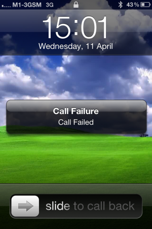 History: Call Failure on my iPhone 4