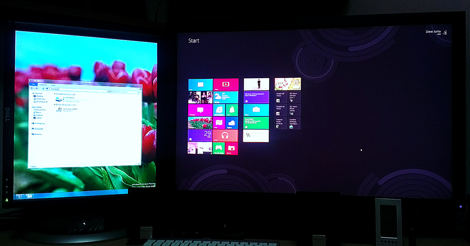 thoughts » Windows 8 – A Dual Monitor Test