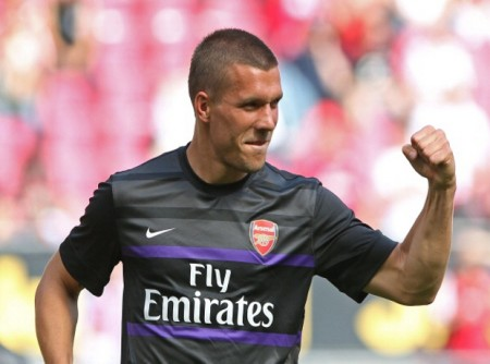 Podolski is likely to play 'in the hole'.