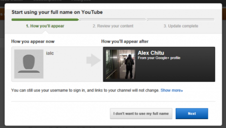 YouTube Users can now link Google+ profiles
