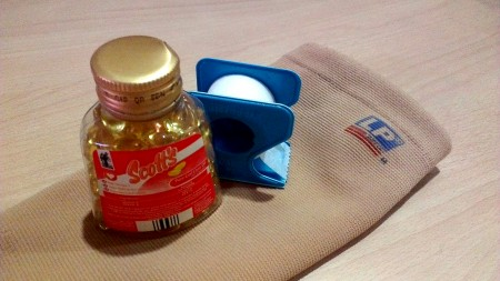 LP Shin Sleeve, 3M Micropore Tape & Scott's Cod Liver Oil