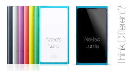 Redesigned Nano & Nokia's Lumia with their screens blanked out