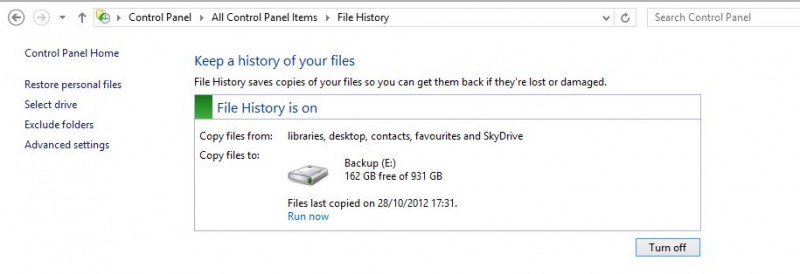 File History: Save and restore old versions of your documents