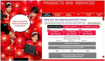 SingTel's Youth Benefits