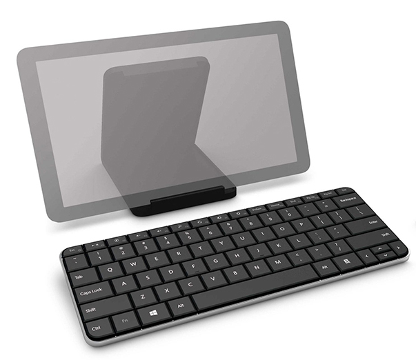 Microsoft Wedge Keyboard - It comes with a stand.