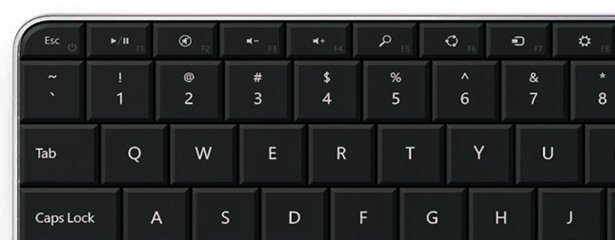 The Windows 8 keys are great but F1-12 now requires the additional Fn key to be used.