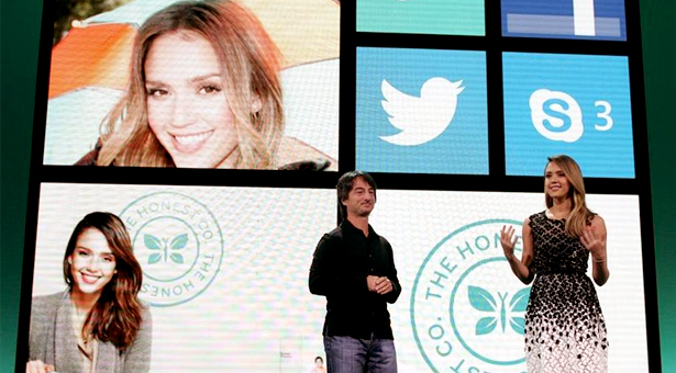 WP8: All about people - like Jessica Alba as a mom.