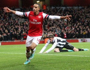 Walcott: Arsenal's second league hat trick hero this season.
