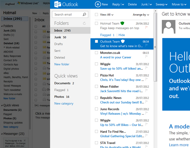 Hotmail's revamped to Outlook was just part of multiple changes