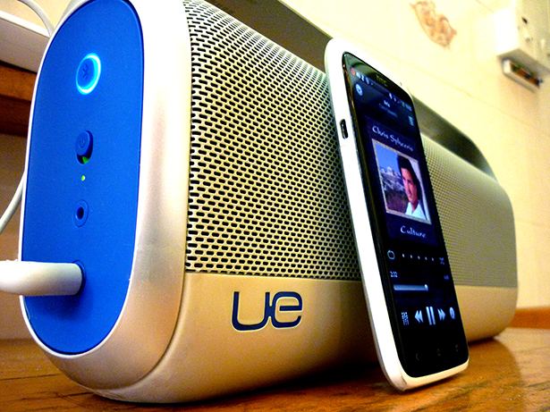 The UE Boombox: Links with 8 bluetooth devices simultaneously.