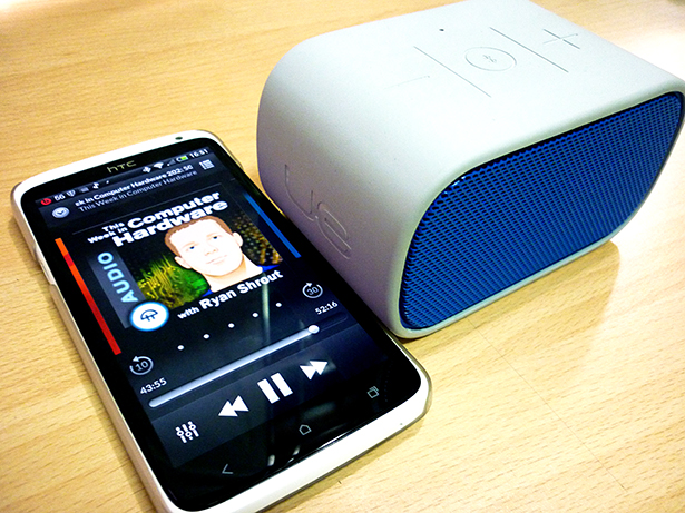 The Mobile Boombox: Both a speaker and a speakerphone.