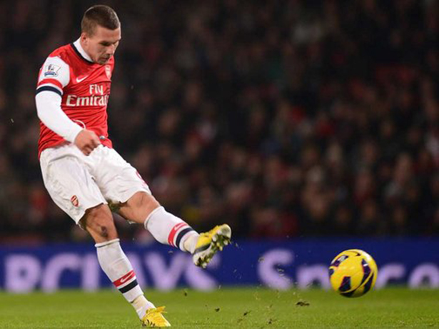 Poldi: A man of the match performance.