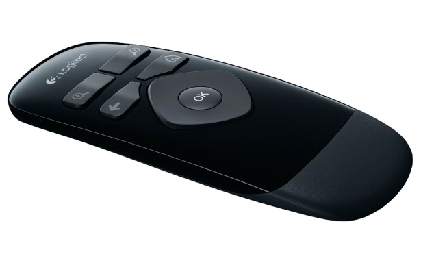 Slim remote is simple and direct to use.