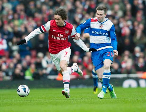 Rosicky: Pressed well and kept the midfield ticking.