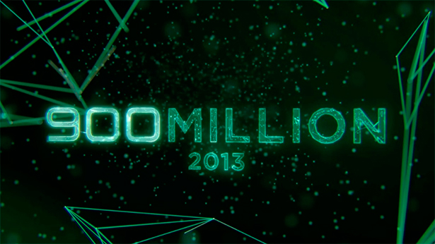 Android hits 900 million activations in 2013.