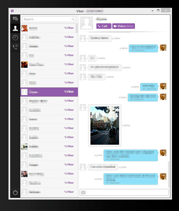 how to delete a threat in viber
