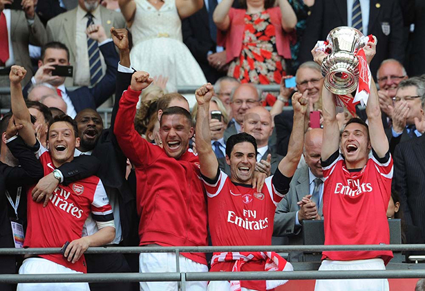The players receive and lift the trophy and you can tell how much it meant to them.