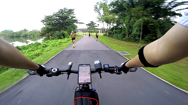 The final 10 km was spent in Jurong Lake Park with a couple of stares from senior folks.